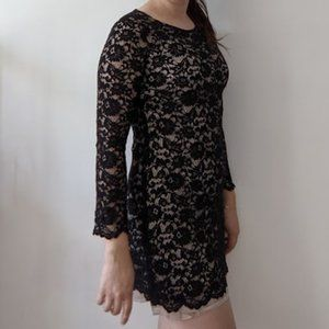 Black Lace Imperial Dress S